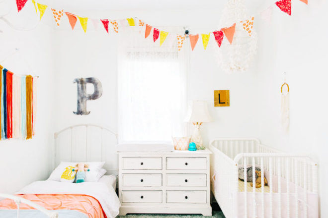 18 beautiful baby and toddler shared bedrooms | Mum's Grapevine