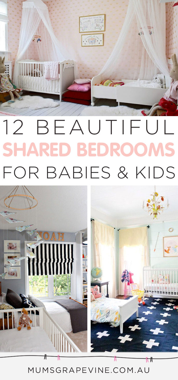 12 beautiful shared bedroom ideas for babies and kids