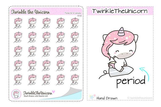 Period reminder stickers