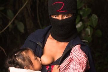 Zapatista breastfeeding Jade Beall Photography