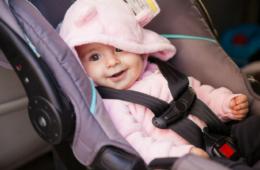 calm baby on car ride
