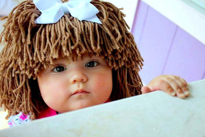 Yumbaby Cabbage patch doll wig brown
