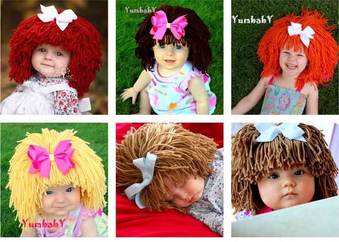Yumbaby Cabbage patch doll wig Etsy