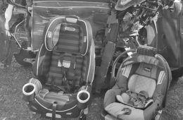 Car seat after a crash