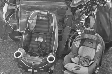 Car seat after a crash