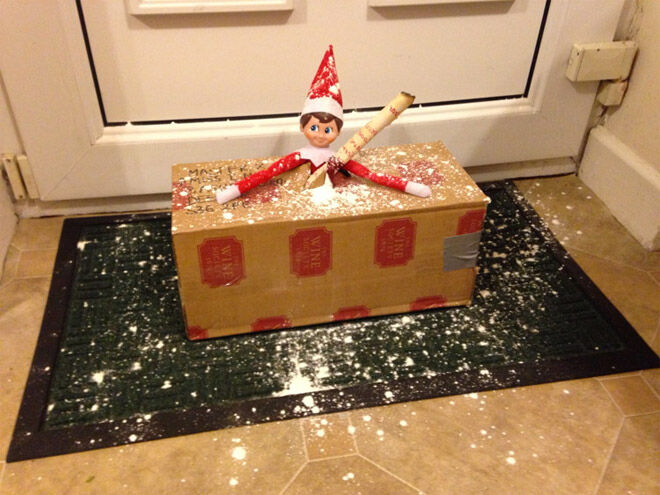 Krazy coupon lady elf delivered in a box