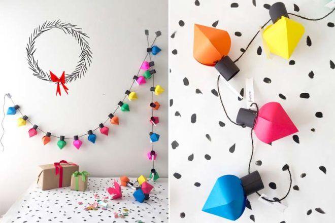 DIY Advent calendars paper lanterns