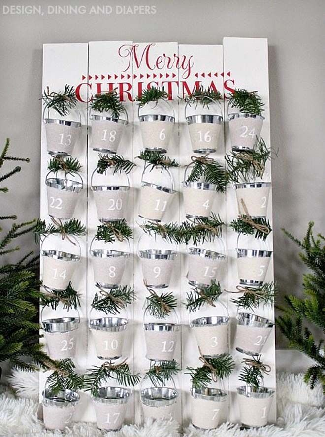 DIY Advent calendars buckets and pales
