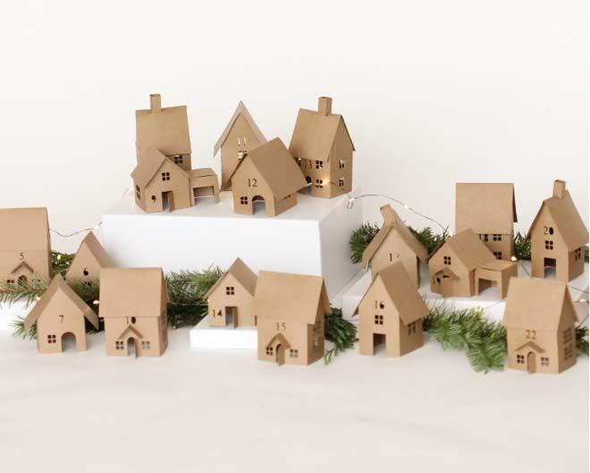 DIY Advent calendars tiny houses cardboard