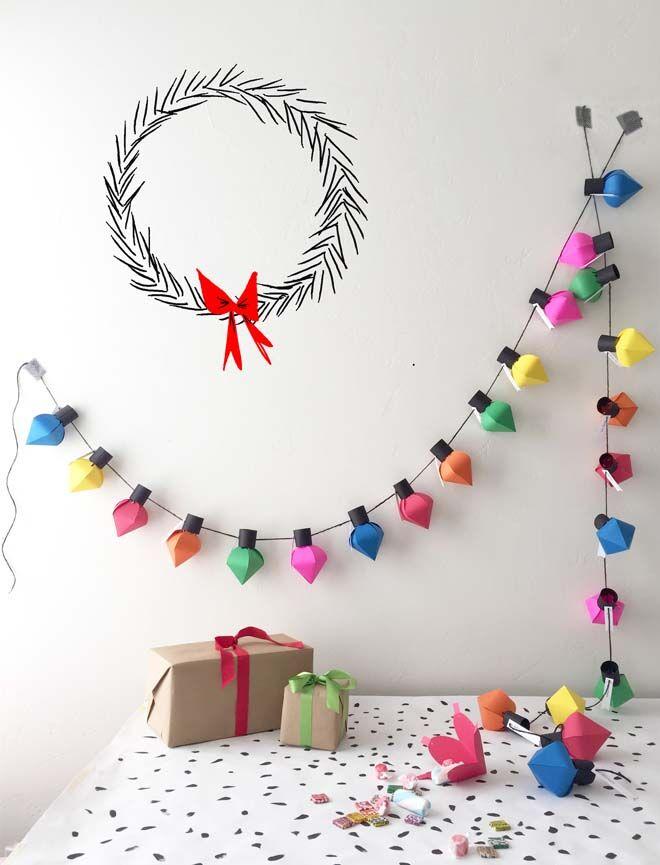 DIY Advent calendars lantern garland