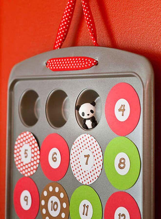 DIY Advent calendars muffin tins