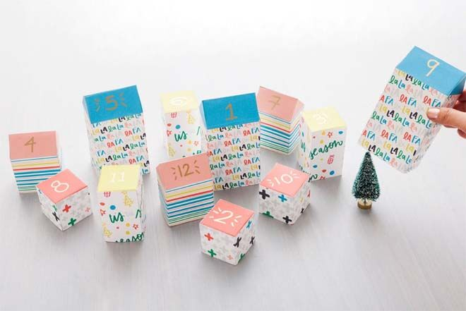 DIY Advent calendars milk cartons