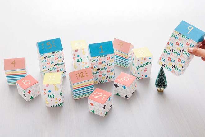 DIY Advent calendars milk cartons