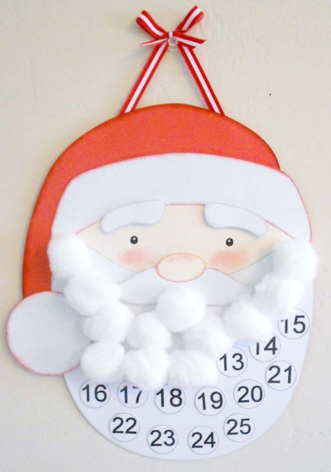 DIY Advent calendars santa beard