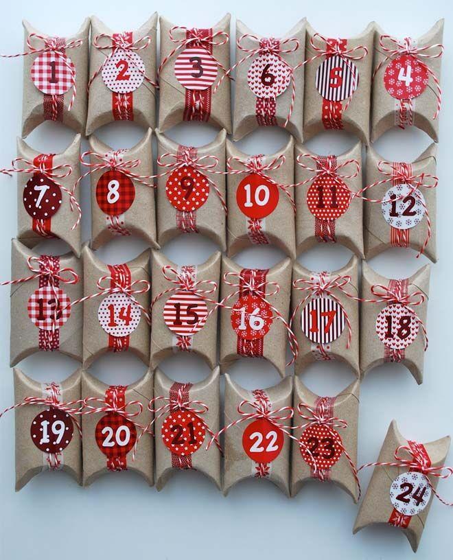 DIY Advent calendars paper parcels
