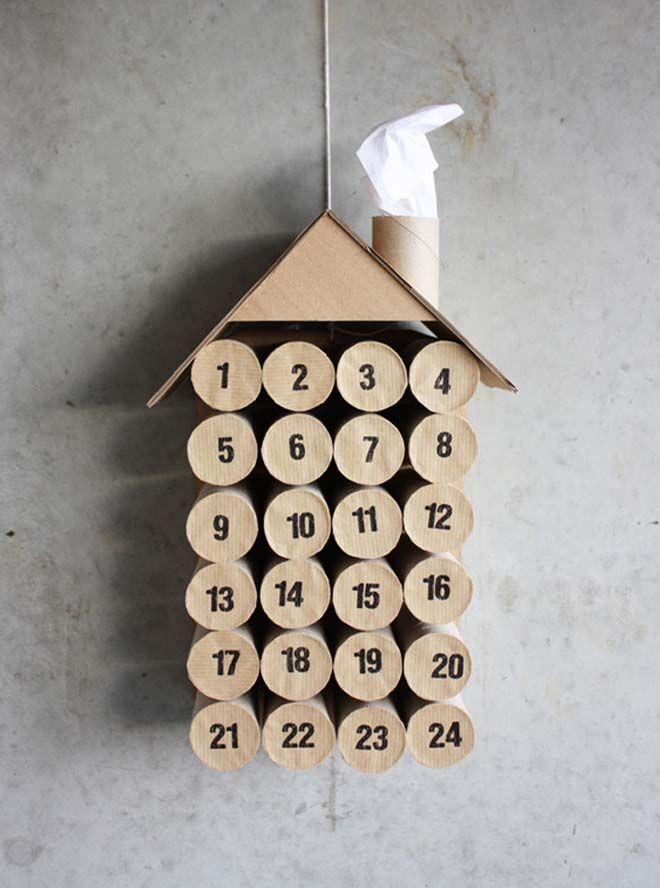 DIY Advent calendars toilet roll house