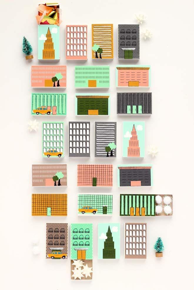 DIY Advent calendars matchboxes