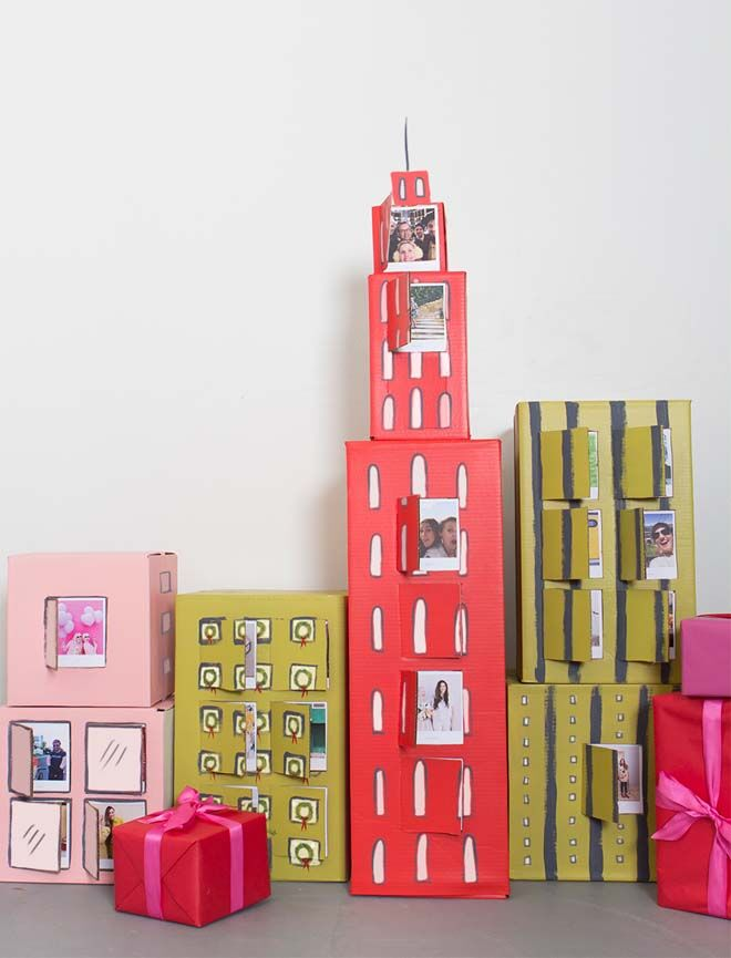DIY Advent calendars paper towns