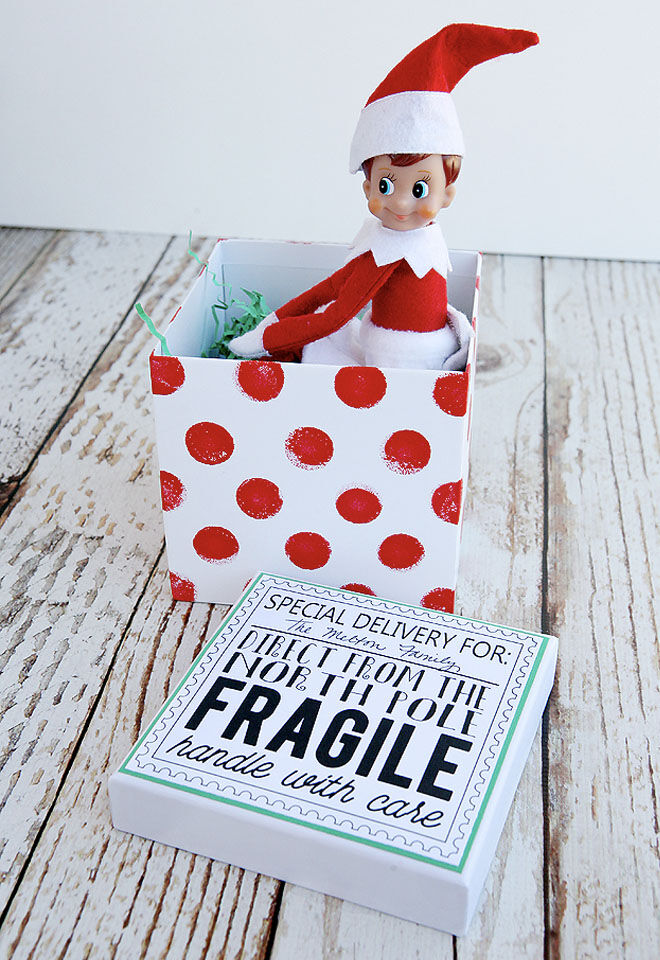 Elf on the Shelf arrival ideas