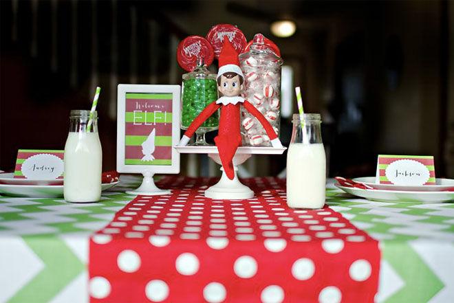 Elf on the Shelf arrival ideas afternoon tea