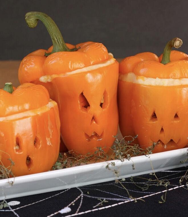 Spooky Halloween dinner ideas, Stuffed Capsicum