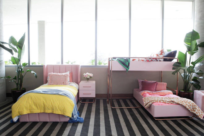 Incy Interiors bunk bed blush