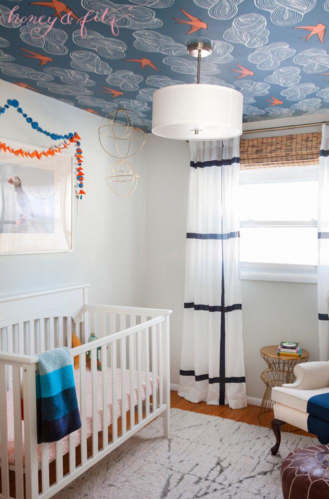 Nursery Trend 15 Ways To Use Ceiling Wallpaper In The Nursery