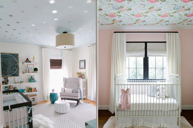 15 ways to use wallpaper on the ceiling