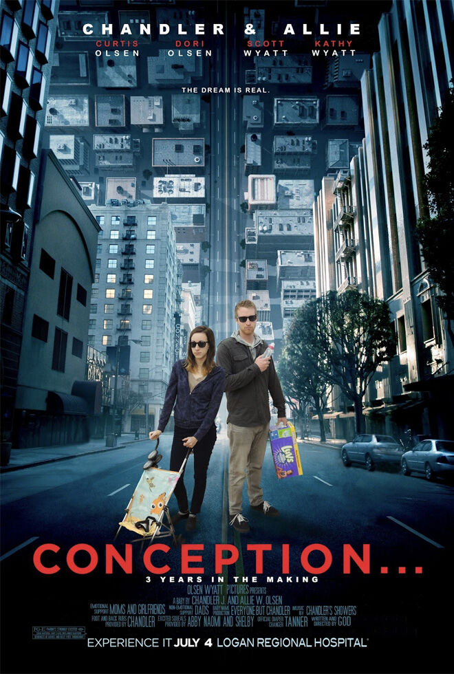 Conception pregnancy movie poster announcement
