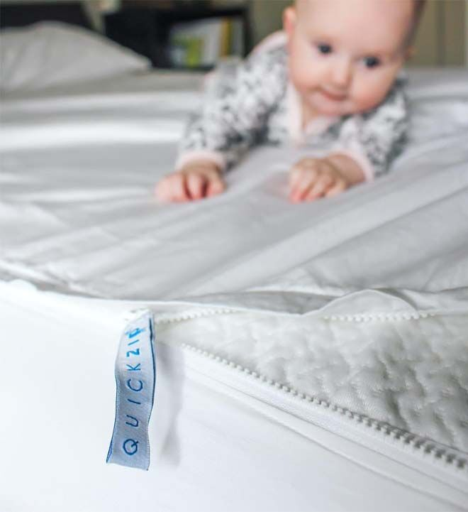 How to easily change top bunk sheets