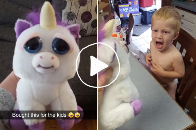 sweet scary unicorn video