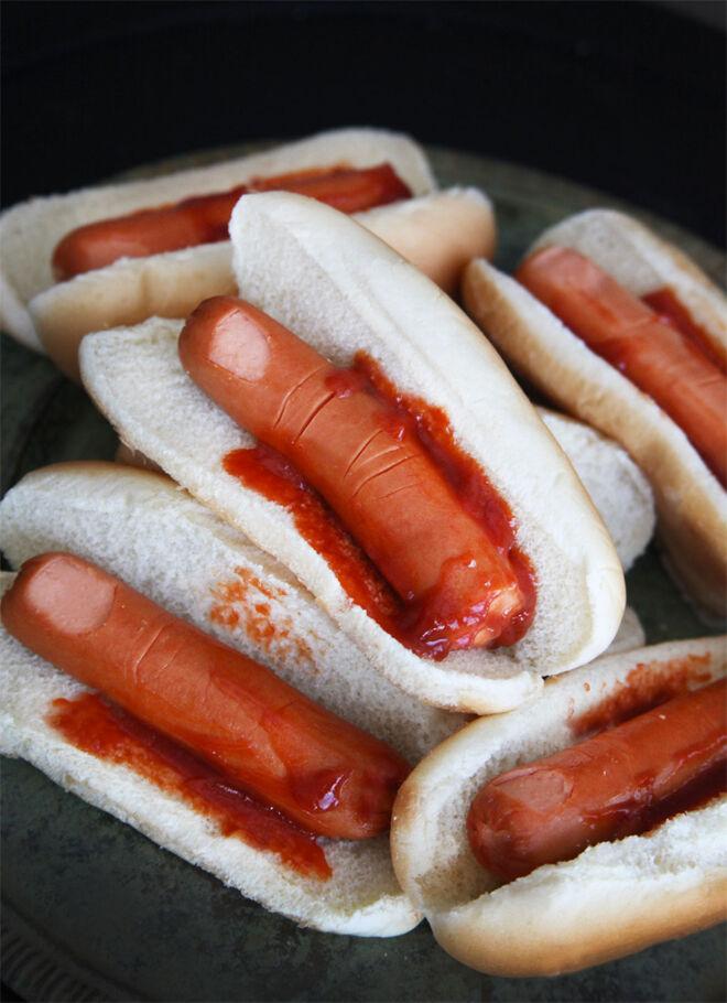 Severed Finger hot dogs