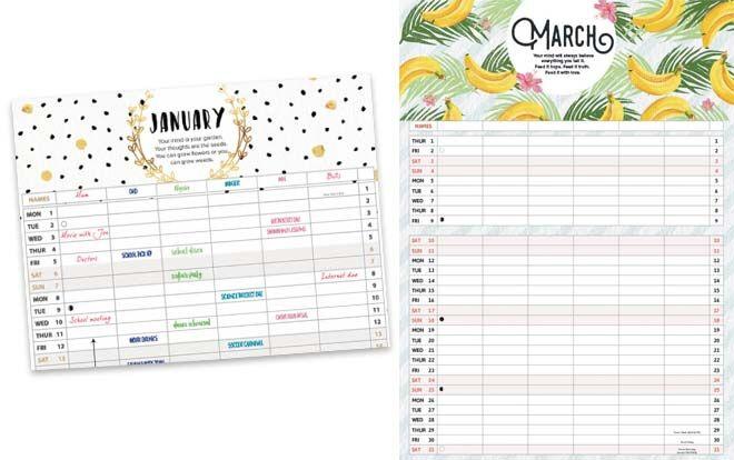 Smart Calendar4U 2018 Family Planner