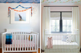 Using wallpaper on the ceiling of baby nursery