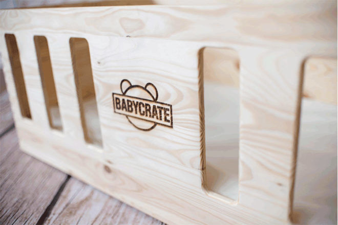 Wooden baby bed bassinet substitute BabyCrate