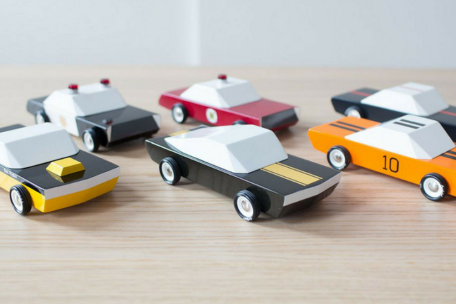 Gorgeous range of Candylab wooden toy cars