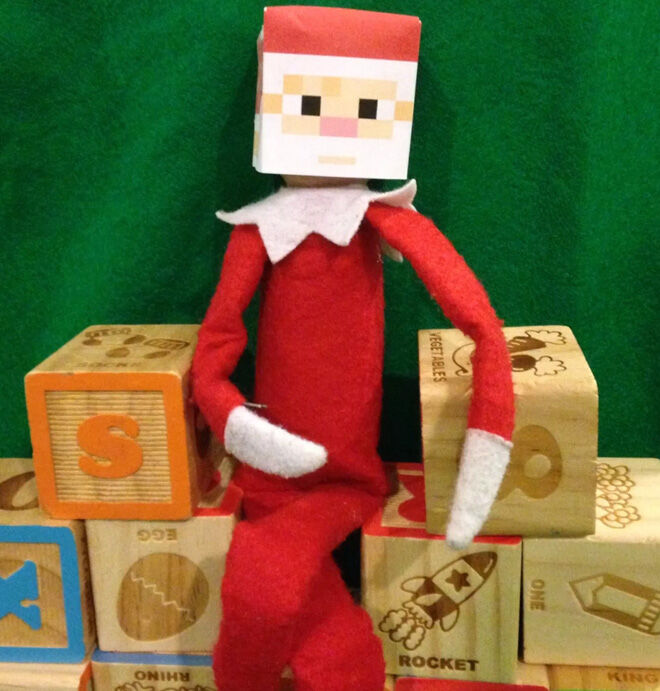 Elf on the Shelf Minecraft santa printable