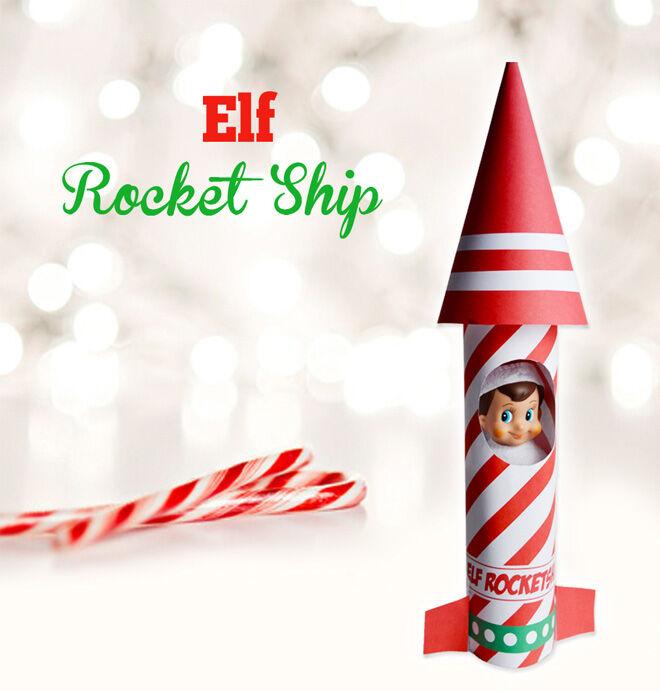 Rocket ship printable for Elf on the Shelf