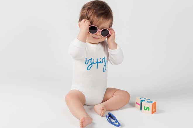 babe wearing IZIPIZI sun kids collection sunglasses