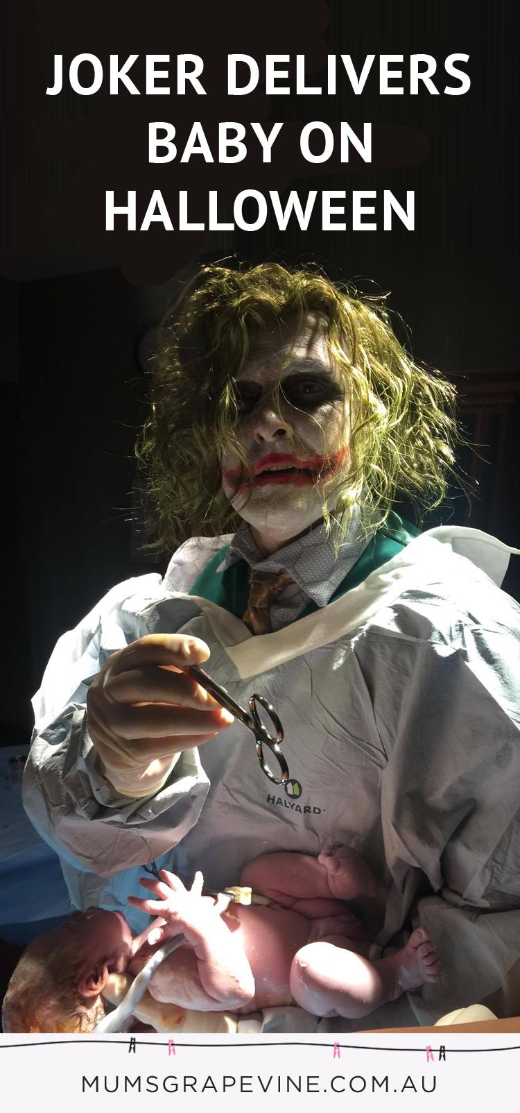 The Joker OB delivering a baby