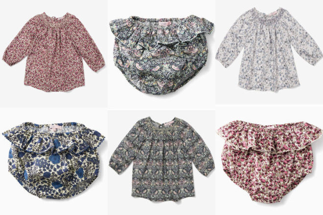 Liberty bloomers and blouses by Printebebe