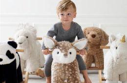 Pottery Barn Kids plush fawn rocker