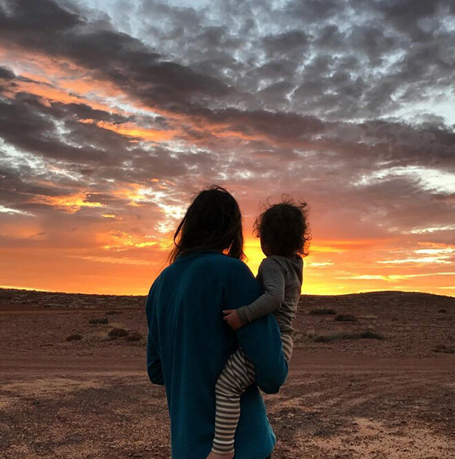 Jonesys family adventure sunset