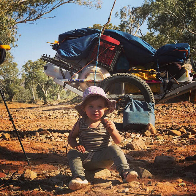 The Jonesys one-year-old Morgan on outback adventure
