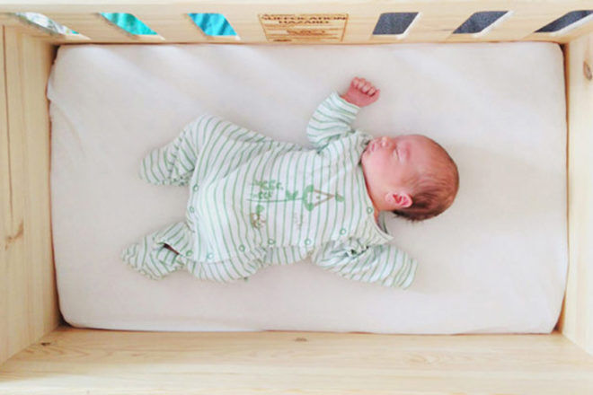 Baby Crate bassinet alternative