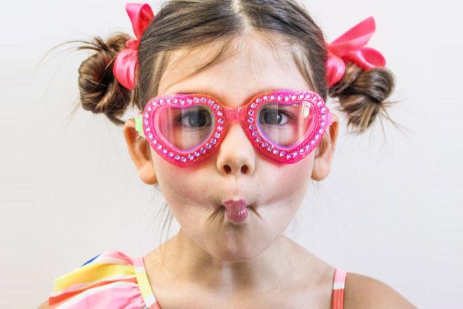 Bling20 kids goggles heart