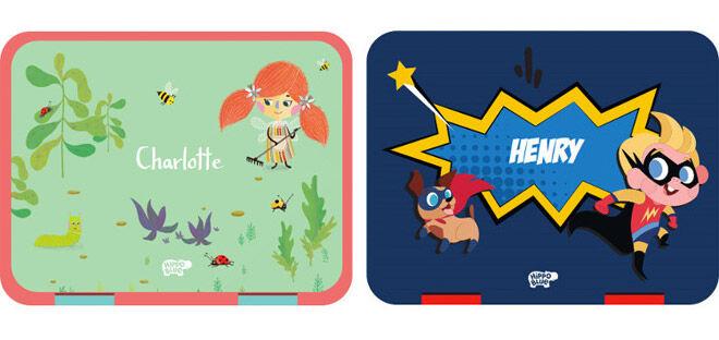 Hippo Blue personalised bento box