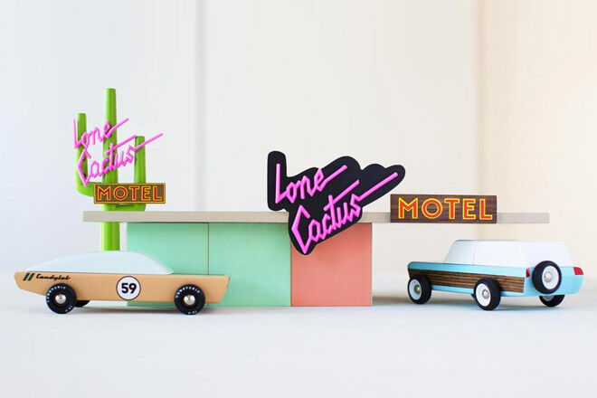 Candylab wooden toy cars loan cactus