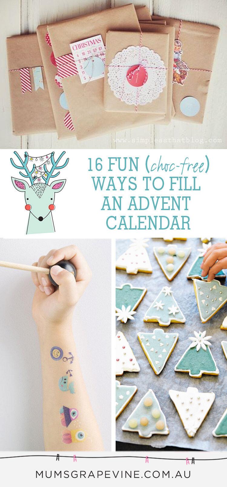 Choc free avent calendar filling ideas