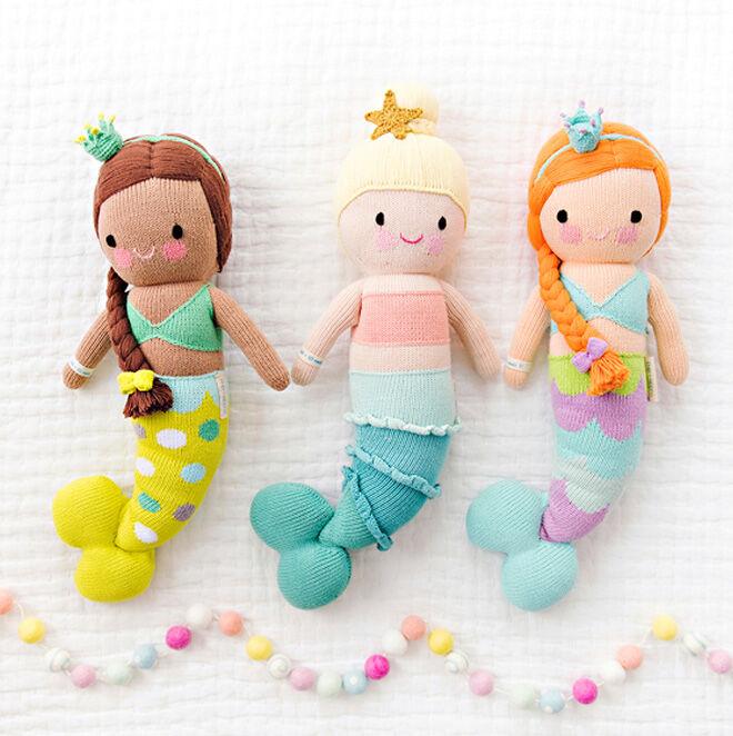 cuddle + kind knitted mermaid dolls